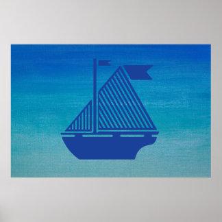 Bateau à voile sur l océan