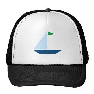 Bateau à voile vert de drapeau casquettes de camionneur