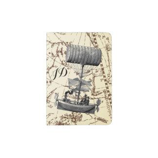 Bateau d'air de Steampunk de ciel de zodiaque avec Protège-passeport