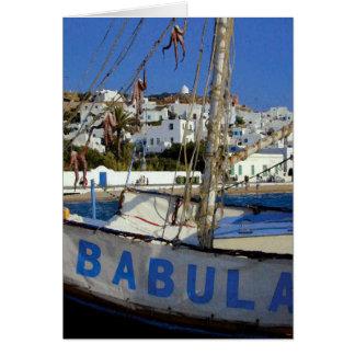 Bateau de Babula Carte De Vœux