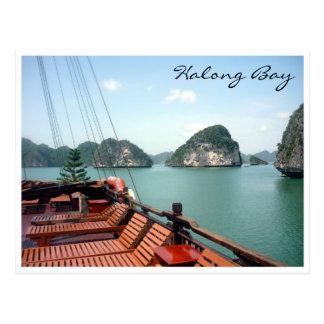 bateau de baie de halong carte postale