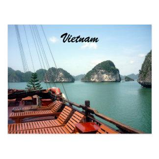 bateau de halong carte postale