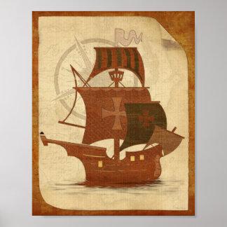 Bateau de mystère de pirate posters