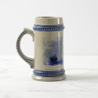 Bateau de navigation vintage Tankard en céramique Mugs À Café