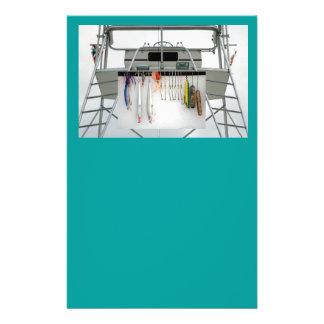 bateau de pêche de charte prospectus 14 cm x 21,6 cm