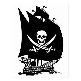 Bateau de pirate cartes postales