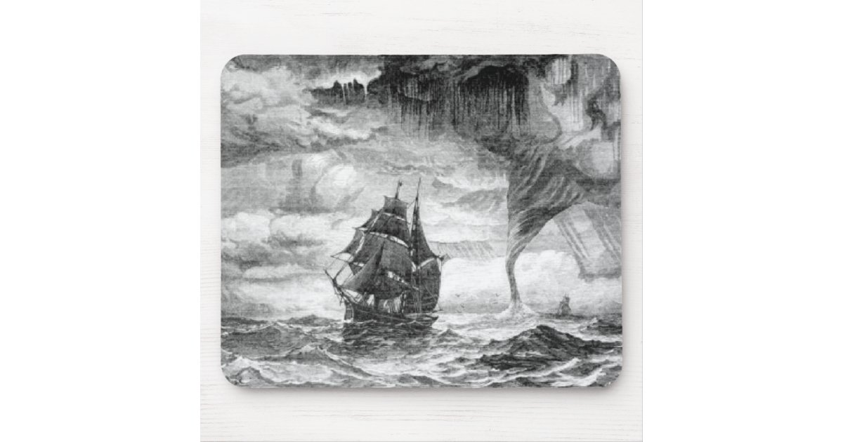 bateau de pirate dans une temp te tapis de souris zazzle. Black Bedroom Furniture Sets. Home Design Ideas