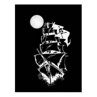 Bateau de pirate sur les hautes mers carte postale