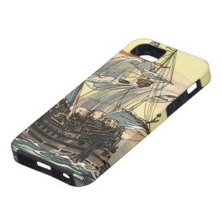 Bateau de pirate vintage, navigation de galion sur coques Case-Mate iPhone 5