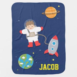 Bateau de Rocket, astronaute, espace Couverture De Bébé