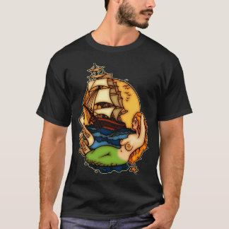 Bateau de sirène et de pirate t-shirt