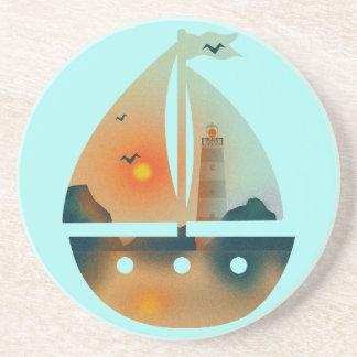 Bateau de Sunset_sail Dessous De Verres
