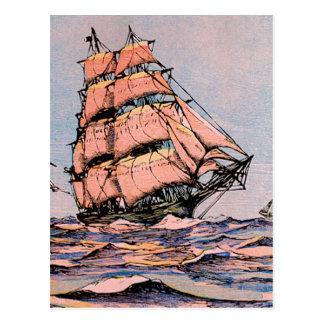 Bateau de tondeuse Ann McKim Carte Postale