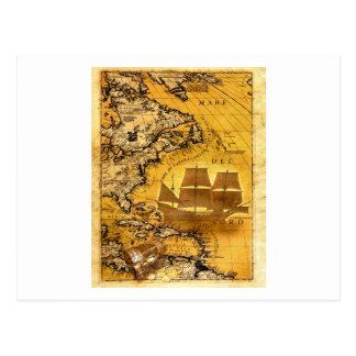 Bateau de trésor carte postale
