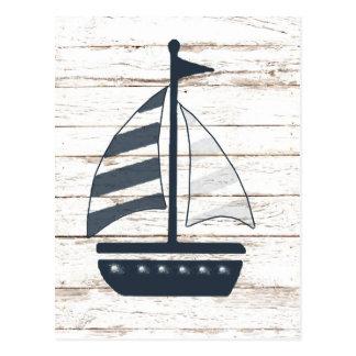 bateau orienté nautique 2 cartes postales