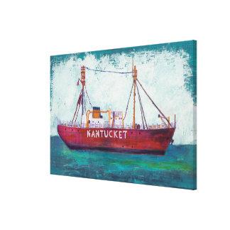 Bateau-phare côtier de l'art | Nantucket Toile