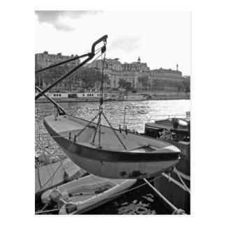 Bateau sur la Seine Paris Carte Postale