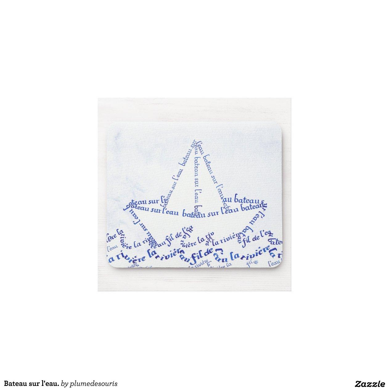 bateau sur l 39 eau tapis de souris zazzle. Black Bedroom Furniture Sets. Home Design Ideas
