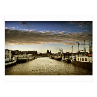 Bateaux à Amsterdam Carte Postale