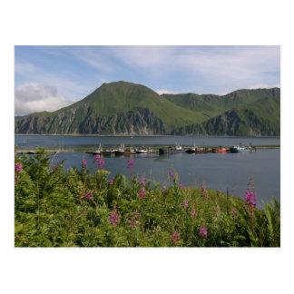 Bateaux à la broche dans le port néerlandais, cartes postales