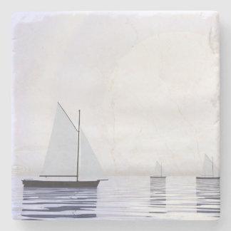 Bateaux à voile - 3D rendent Dessous-de-verre En Pierre