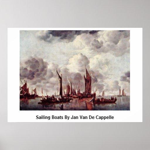 Bateaux à voile avant janvier Van De Cappelle Posters