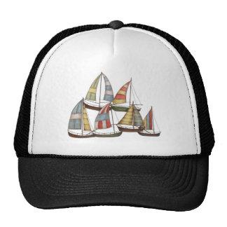Bateaux à voile casquettes