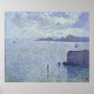 Bateaux à voile dans un estuaire, c.1892-93 posters