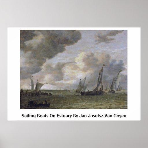 Bateaux à voile sur l'estuaire avant janvier Josef Posters