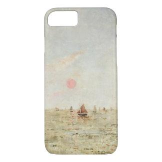 Bateaux au lever de soleil (huile sur le panneau) coque iPhone 8/7