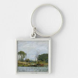 Bateaux d'Alfred Sisley   à la serrure chez Porte-clés