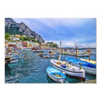Bateaux d'art italien de photo de Capri