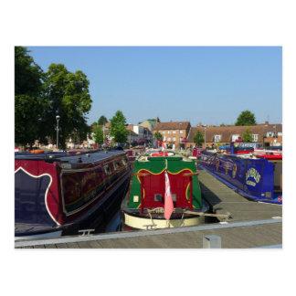 Bateaux de canal, rivière Avon, Stratford-sur-Avon Carte Postale