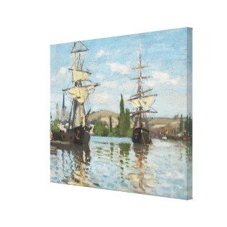 Bateaux de Claude Monet | montant sur la Seine à Toile