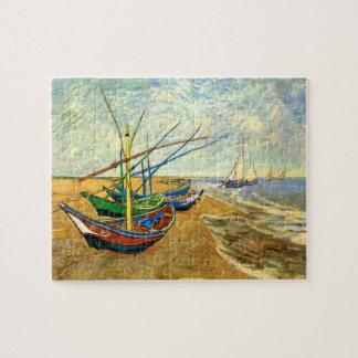 Bateaux de pêche de Van Gogh sur la plage chez Puzzle