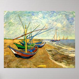 Bateaux de pêche de Vincent van Gogh, post Poster