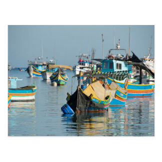 Bateaux de pêche maltais | Marsaxlokk à Malte Carte Postale