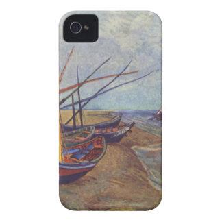 Bateaux de pêche sur la plage par Vincent van Gogh Coque Case-Mate iPhone 4