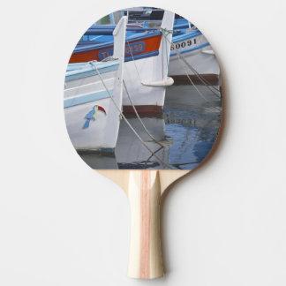 Bateaux de pêche typiques de Provencal peints dans Raquette De Ping Pong