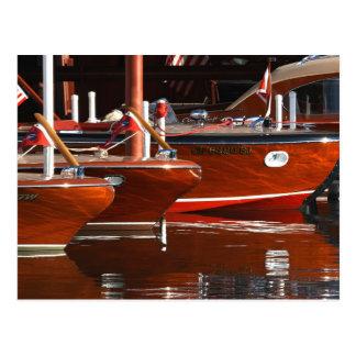Bateaux en bois classiques, le lac Tahoe… Carte Postale