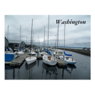 Bateaux en carte postale de l'état de Washington