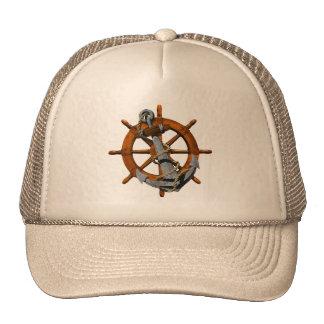 Bateaux nautiques roue et ancre casquette de camionneur