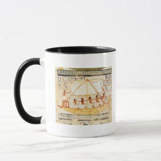 Bateliers sur le Nil, de la tombe de Sennefe Mugs