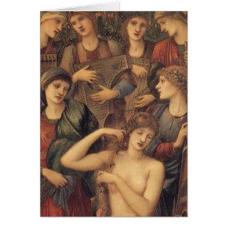 Bath de Vénus par monsieur Edouard Coley Burne Carte De Vœux
