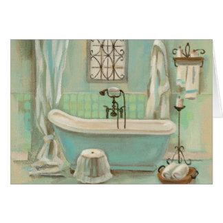 Bath en verre de tuile cartes