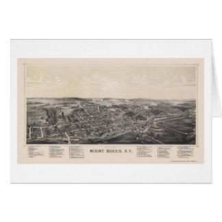 Bâti Morris, carte panoramique de NY - 1893