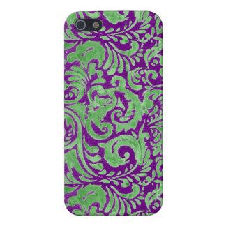 Batik floral vert pourpre iPhone 5 case