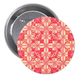 Batik tribal - nuances du rose de corail pin's avec agrafe