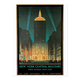 Bâtiment central de New York Carte Postale