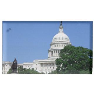 Bâtiment de capitol dans le Washington DC Porte-cartes De Table
